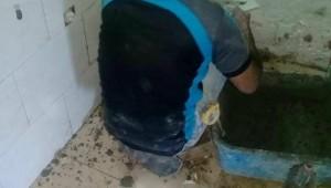 مشروع تأهيل حمامات الأسر الفقيرة في مخيم الشاطئ - المرحلة الثانية
