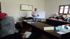 ورشة عمل تدريبية بعنوان مهارات الالقاء والعرض