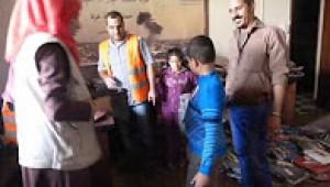 حملة توزيع كسوة ملابس الأطفال الشتوية